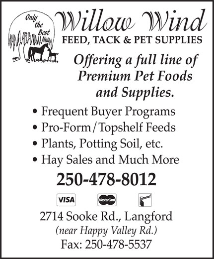Ads Willow Wind Feed & Pet Food