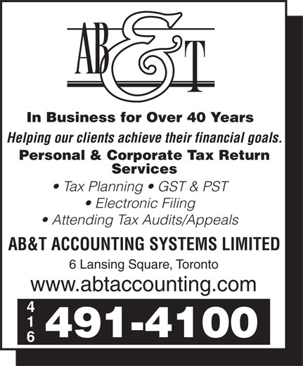 Ads A B & T Accounting Systems Limited