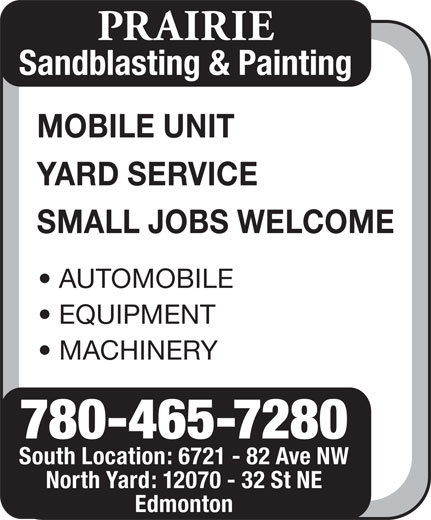 Ads Prairie Sandblasting &amp; Painting