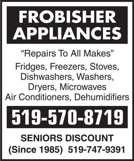 Ads Frobisher Appliances
