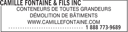 Ads Camille Fontaine & Fils Inc