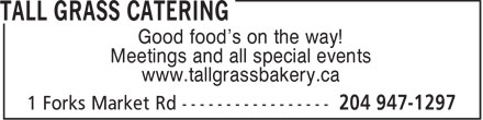 Ads Tall Grass Catering