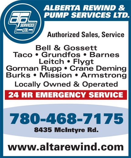 Ads Alberta Rewind &amp; Pump Services Ltd