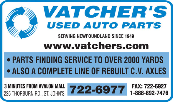 Ads Vatcher's Used Auto Parts