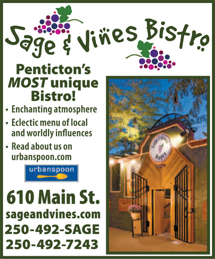Ads Sage &amp; Vines Bistro