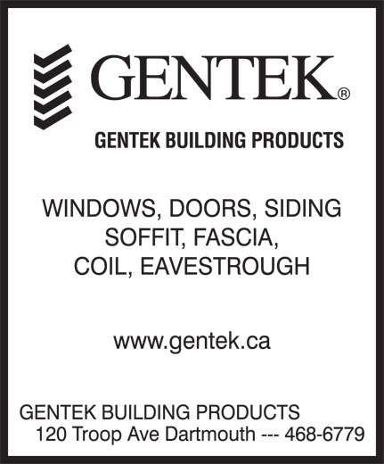 Gentek Building Products Dartmouth Ns 120 Troop Ave