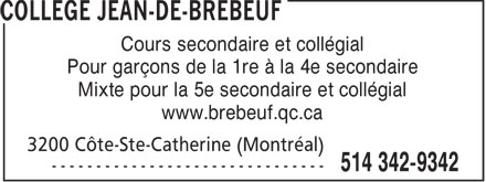 Ads Collge Jean-de-Brbeuf