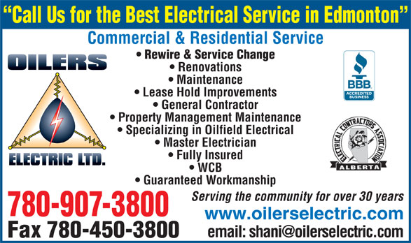 Ads Oilers Electric Ltd