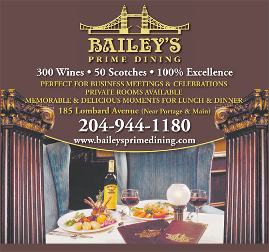 Ads Bailey's Restaurant & Bar