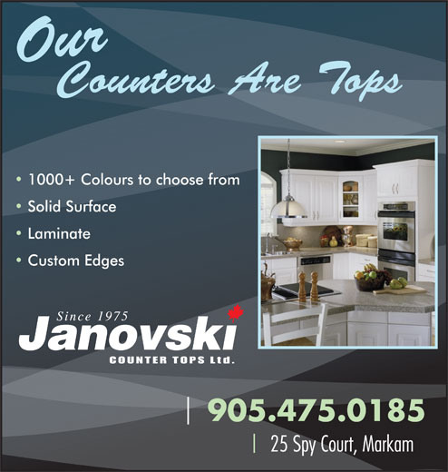 Ads Janovski Counter Tops Limited