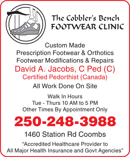 Ads Cobbler's Bench Footwear Clinic