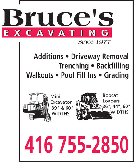 Ads Bruce's Excavating Inc