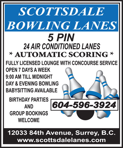 Ads Scottsdale Bowling Lanes
