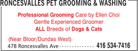 Ads Roncesvalles Pet Grooming & Washing