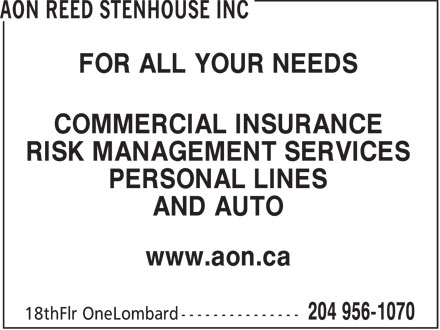 Ads Aon Reed Stenhouse Inc