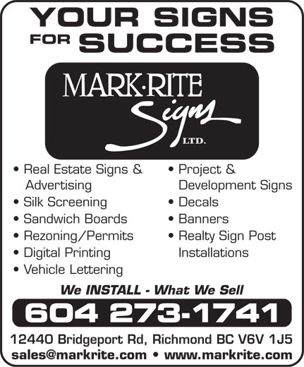 Ads Mark-Rite Signs Ltd