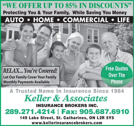 Ads Keller & Associates Insurance Brokers Inc