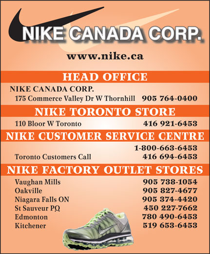 Ads Nike Canada Corp - Toronto Customers Call