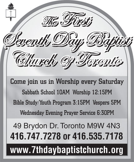 Ads Seventh Day Baptist Church of Toronto