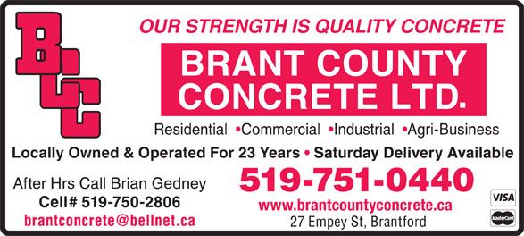 Ads Brant County Concrete Ltd