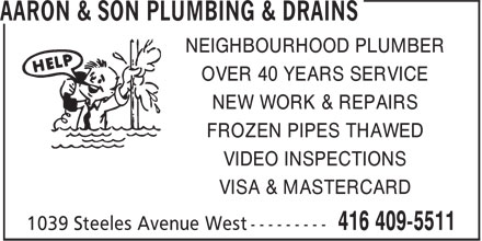 Ads Aaron &amp; Son Plumbing &amp; Drains
