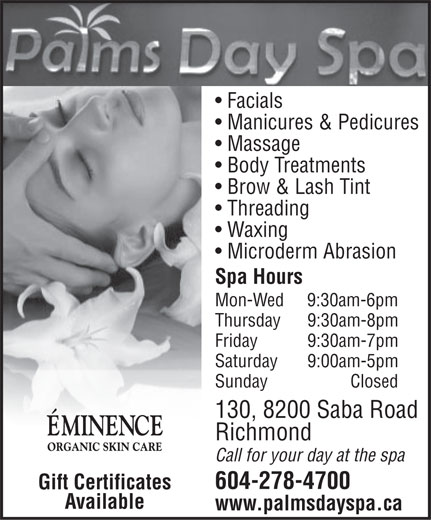 Ads Palms Day Spa
