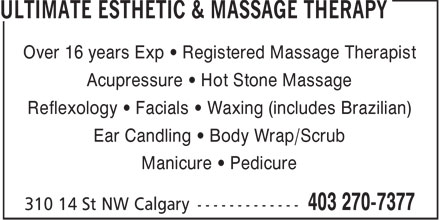 Ads Ultimate Esthetic &amp; Massage Therapy