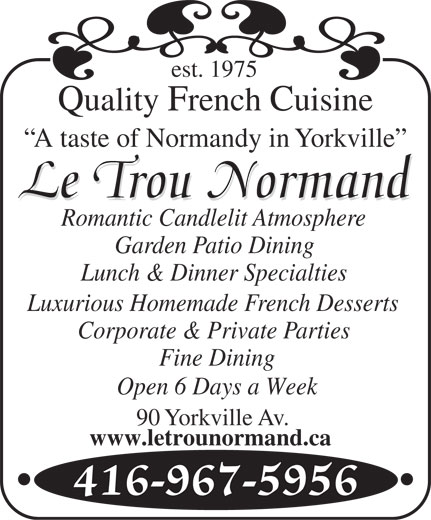 Ads Le Trou Normand Restaurant