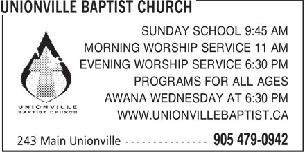 Ads Unionville Baptist Church