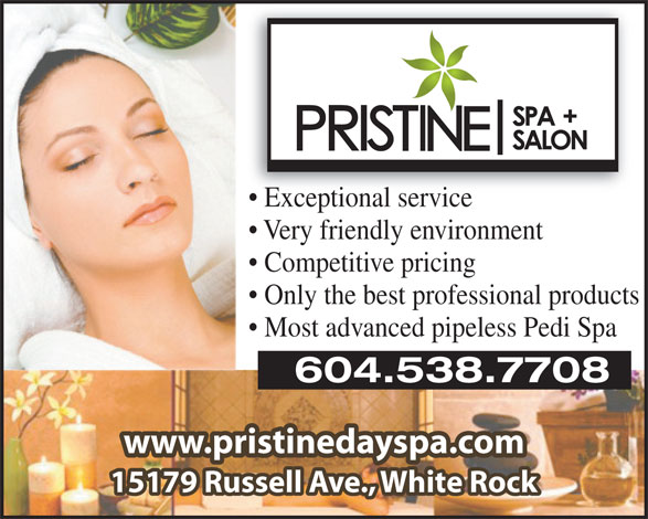 Ads Pristine Day Spa