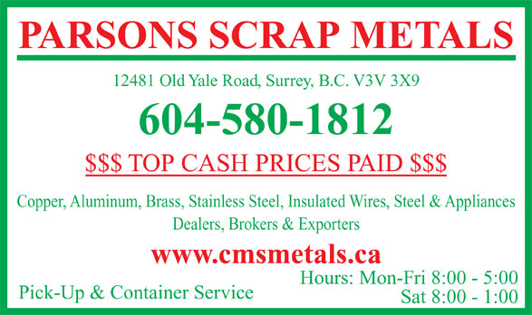 Ads Parsons Scrap Metal