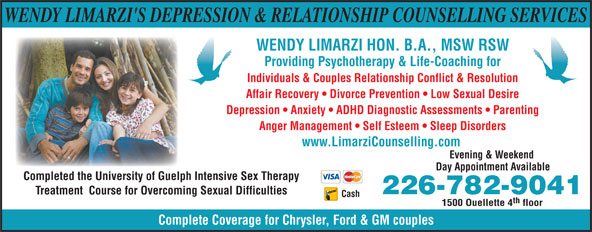 Ads Depression & Relationship Counselling Services