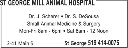 Ads St George Mill Animal Hospital