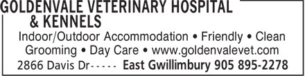 Ads Goldenvale Veterinary Hospital & Kennels