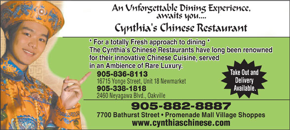 Ads Cynthia's Chinese Restaurant