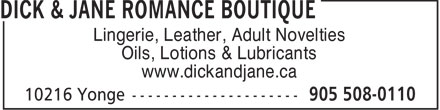 Ads Dick & Jane Romance Boutique