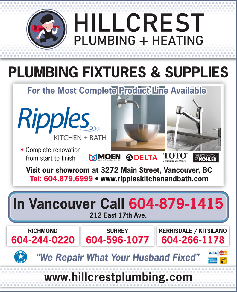 Ads Hillcrest Plumbing &amp; Heating