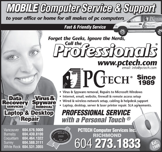 Ads PCTech Computer Repair Services