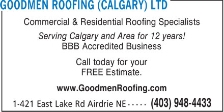 Ads Goodmen Roofing Ltd.