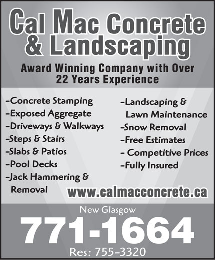 Ads Cal Mac Concrete & Landscaping