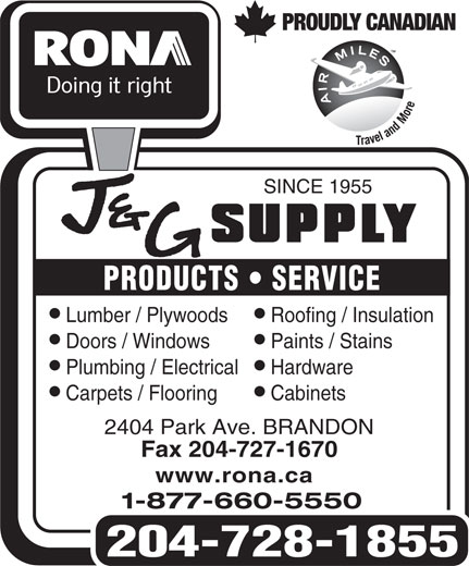 Ads RONA/J&G Supply
