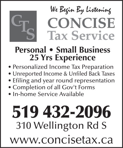 Ads Concise Tax Service Inc