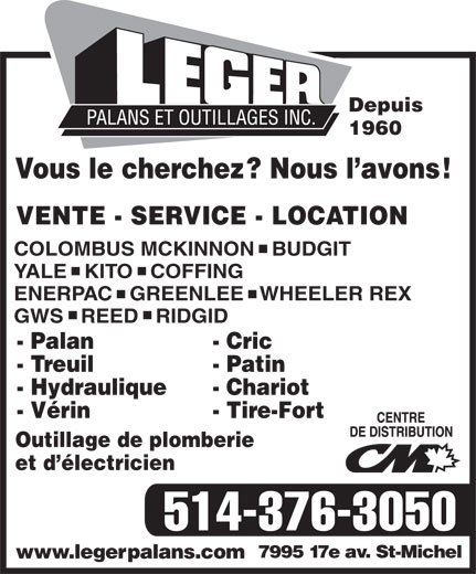 Ads Leger Palans & Outillages Inc