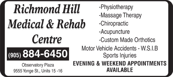 Ads Richmond Hill Medical & Rehab Centre