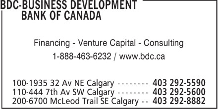 Ads BDC-Business Development Bank Of Canada
