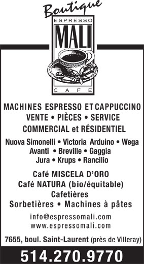 Ads Boutique Espresso Mali