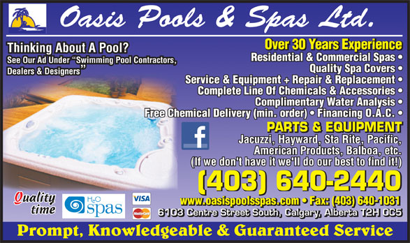 Ads Oasis Pools & Spas Ltd