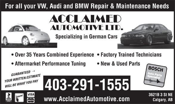 Ads Acclaimed Automotive Ltd