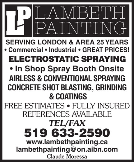 Ads Lambeth Painting Inc