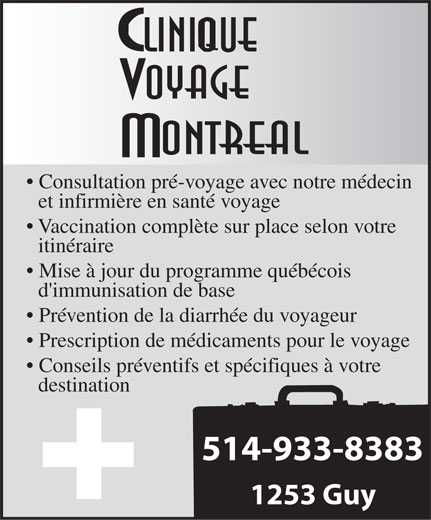 Ads Clinique Voyage Montral